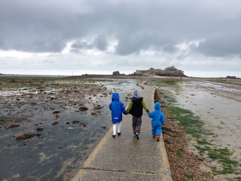 Top 10 Things to do in Jersey, Channel Islands with Kids: Walk out to Elizabeth Castle - copyright: www.globalmousetravels.com