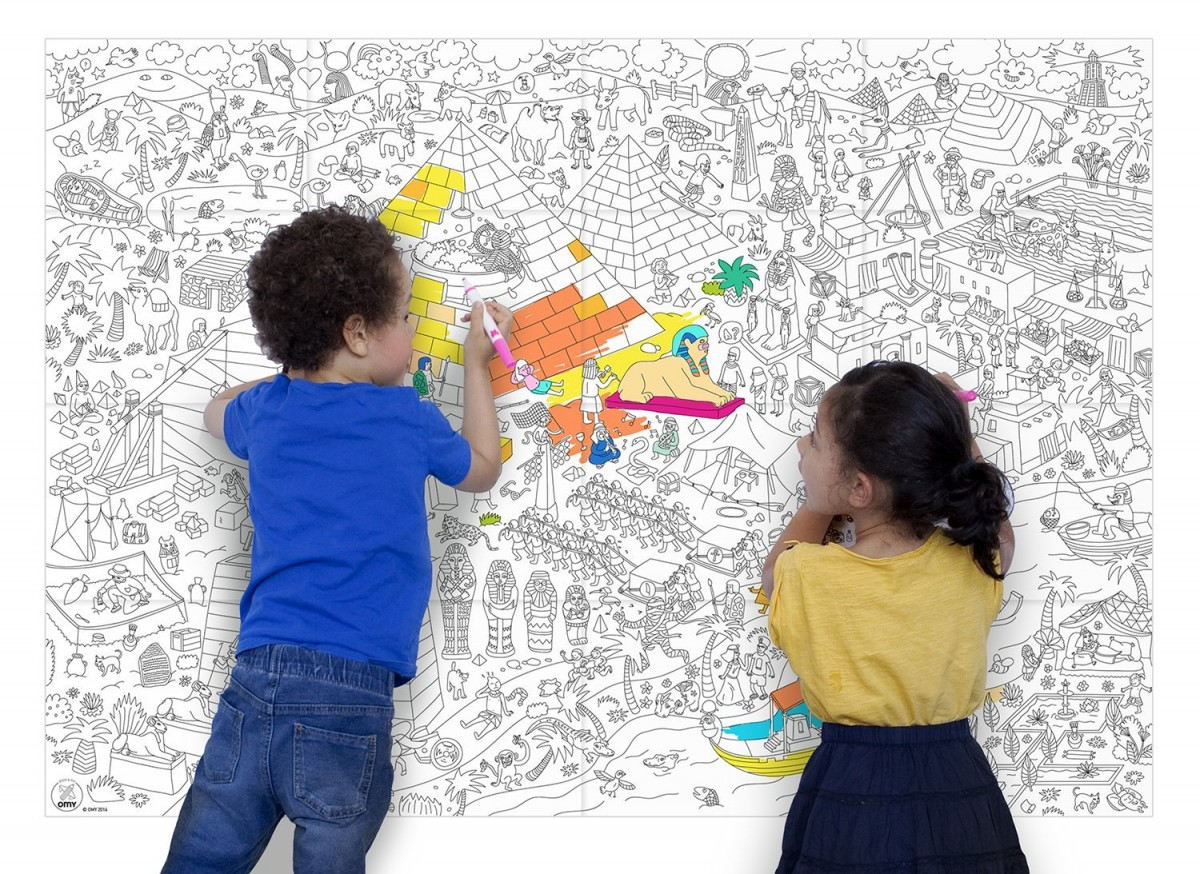 OMY Design and Play Pyramid Giant Colouring Poster