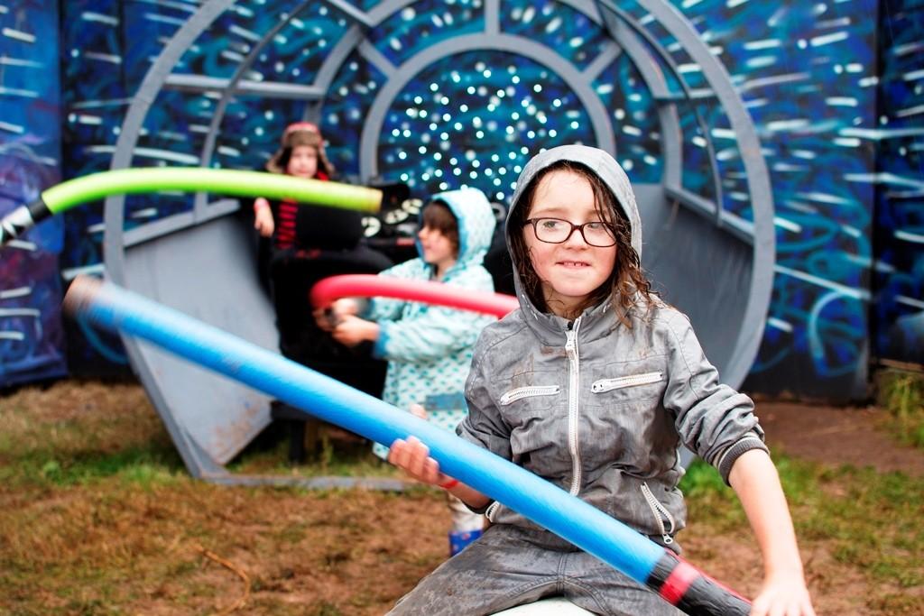 Kids' play at Nozstock - credit Caz Holbrook