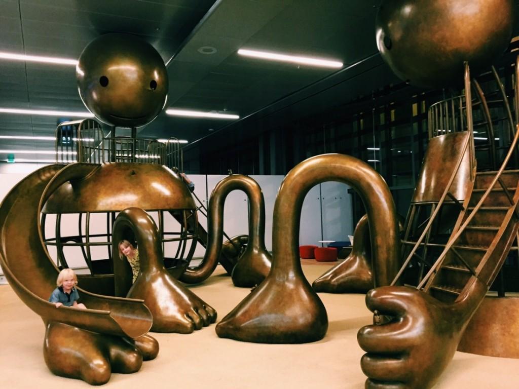Fantastic copper playground at Dohar Airport, Qatar