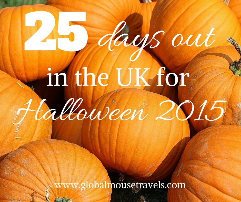 25 Days out in the UK for Halloween - copyright: www.globalmousetravels.com