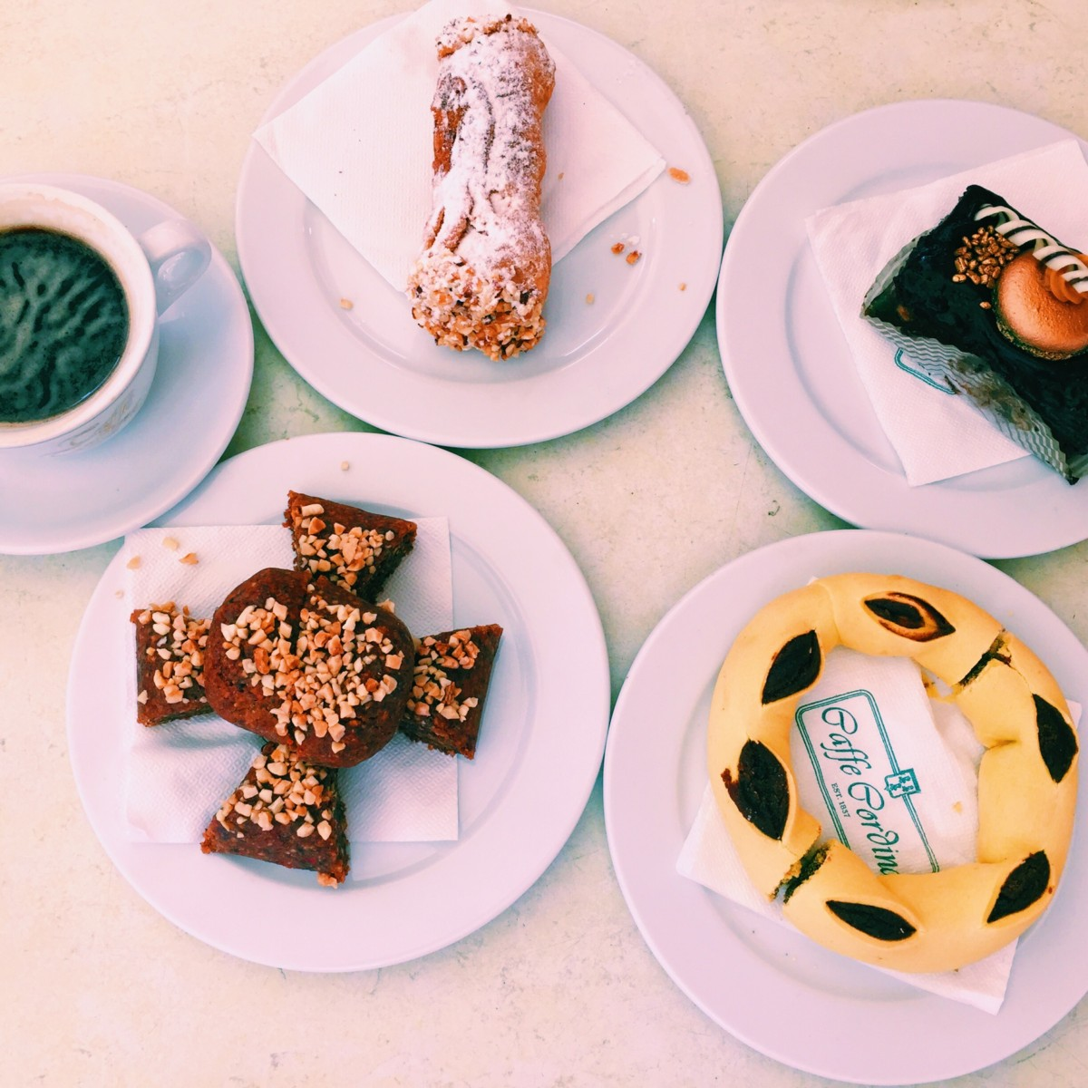 Sweet Maltese treats at Caffe Cordina, Valletta, Malta - copyright: www.globalmousetravels.com
