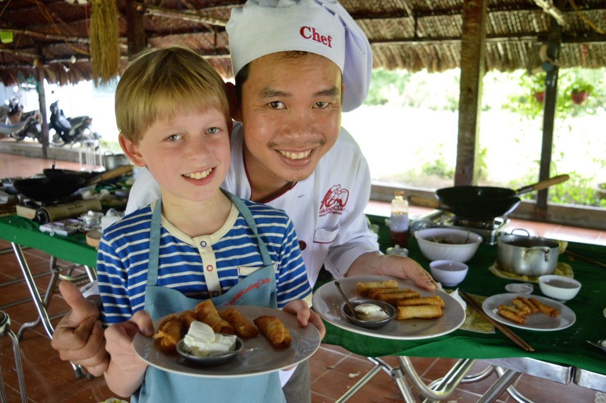 Vietnamese cookery school for kids, Saigon, Vietnam - copyright: www.globalmousetravels.com