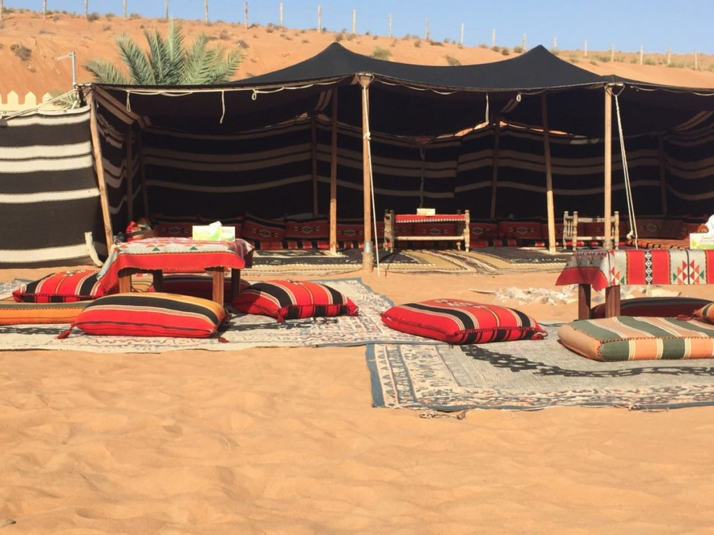 An Arabian adventure - overnight in a traditional Bedouin desert camp, Oman - copyright: www.globalmousetravels.com