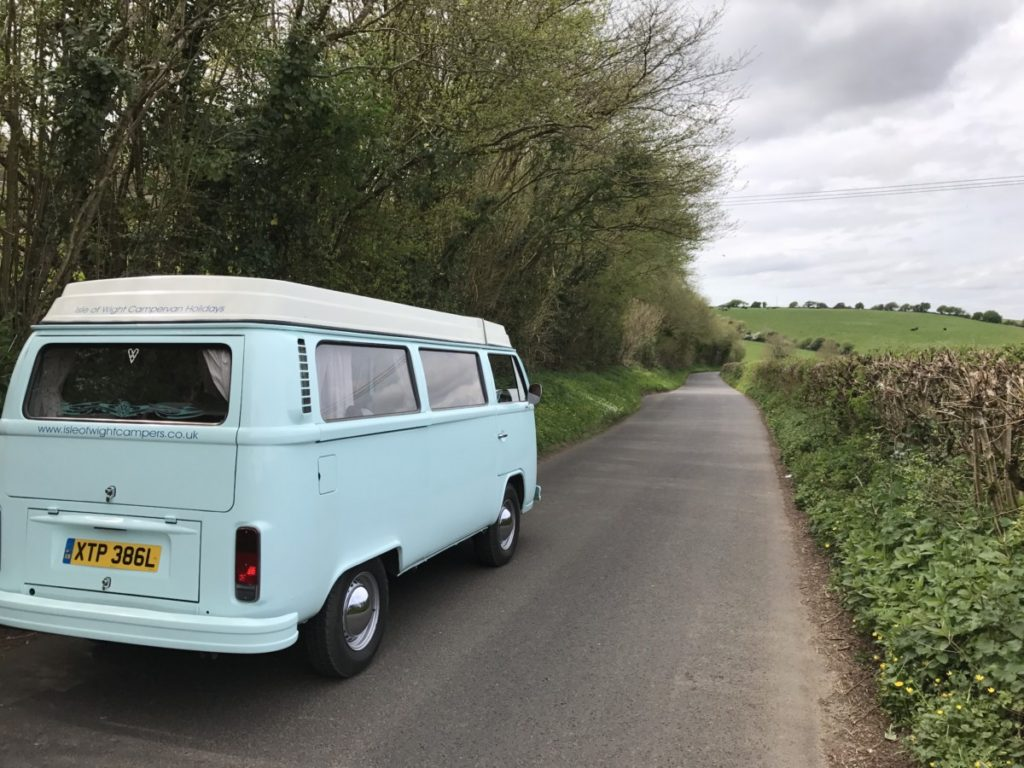 A spring trip around the Isle of Wight in a vintage VW camper van - copyright: www.globalmousetravels.com