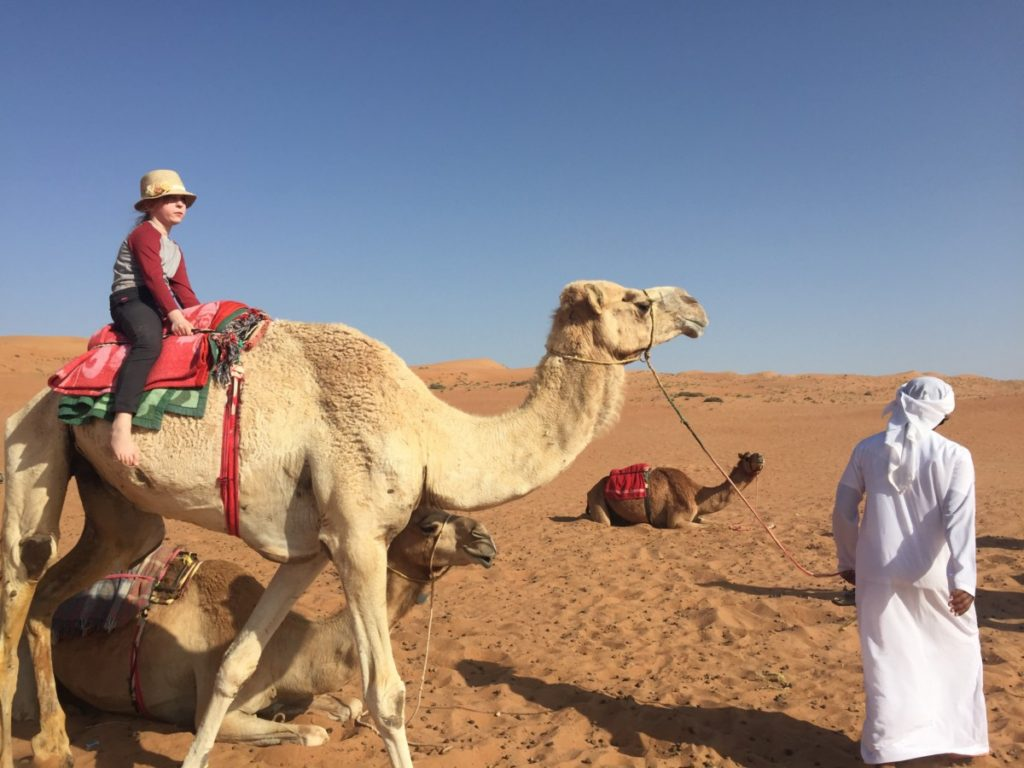 Showcasing Craghoppers SS17 clothes in the Omani desert - copyright: www.globalmousetravels.com