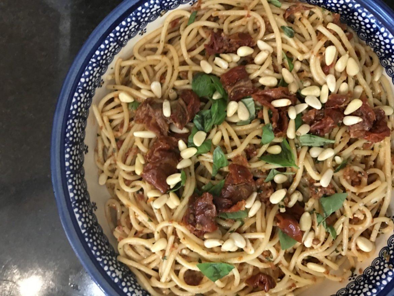 A recipe for Tuscan spaghetti