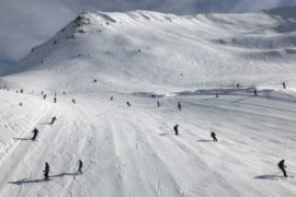 On the piste - Skiing in Flaine with Crystal Ski - A wonderful week in the French Alps - copyright: www.globalmousetravels.com