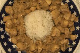 Recipe – mustardy vegan mushroom strogonoff - copyright: www.globalmousetravels.com