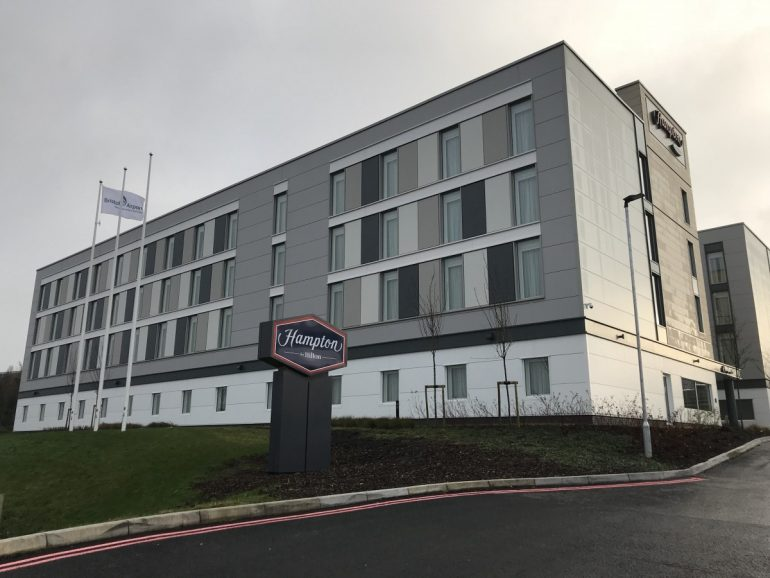 Staying on site at Bristol Airport at the Hampton by Hilton - COPYRIGHT: www.globalmousetravels.com