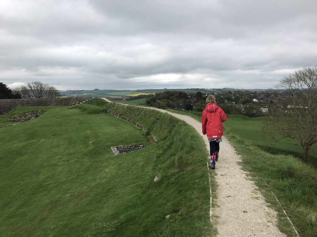 Old Sarum - Exploring The Great Stones Way by car, UK
